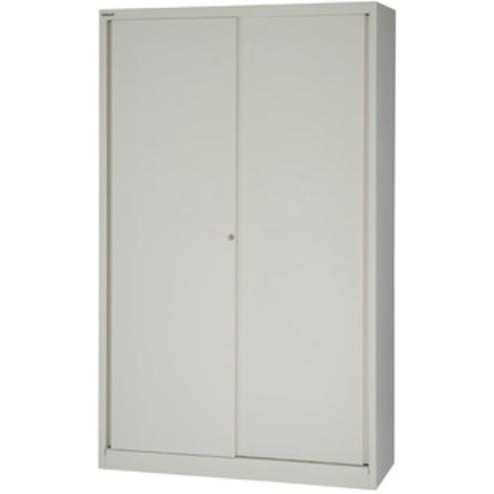Bisley Sliding Door Cupboard inc 4 Shelves 1200x430x1980mm Chalk Ref SD412/19/4S-ab9 Ref SD412/19/4S-ab9