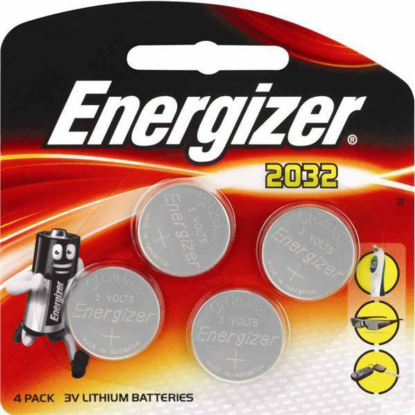 Energizer CR2032 Battery Lithium Ref 637762 Pack 4
