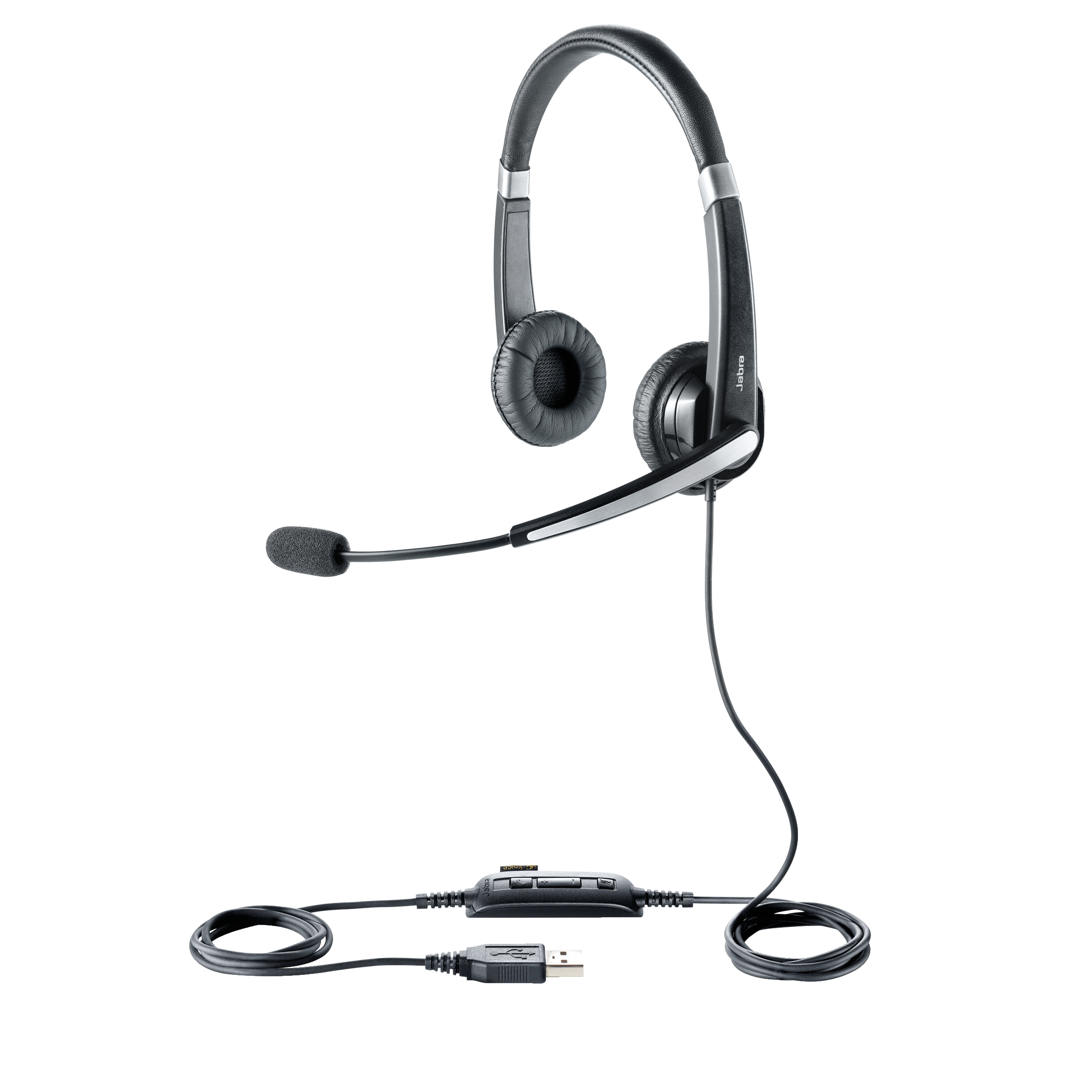 Jabra Evolve 20 Padded Headset USB Noise Cancellation Wideband Black Ref 60489
