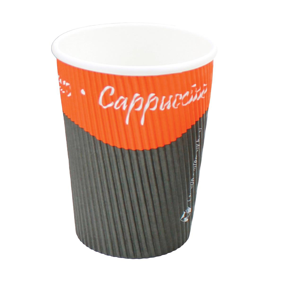 Ripple Paper Cups Triple Walled PE Lining 12oz 350ml Varied Design Ref RY00750 [Pack 25]