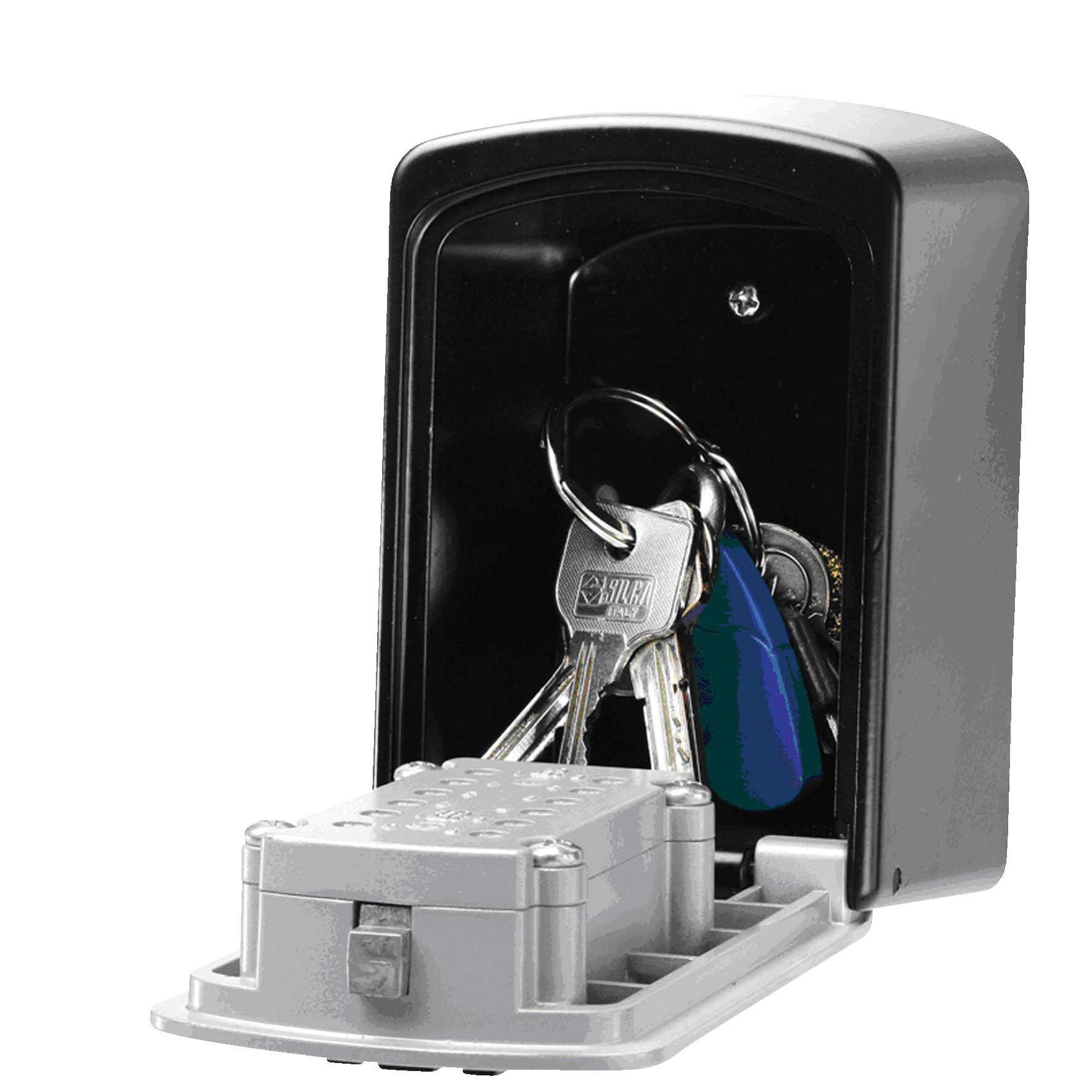 Image for Securikey Push Access Key Store Black /Grey (Wall mountable with waterproof cover) 5412D