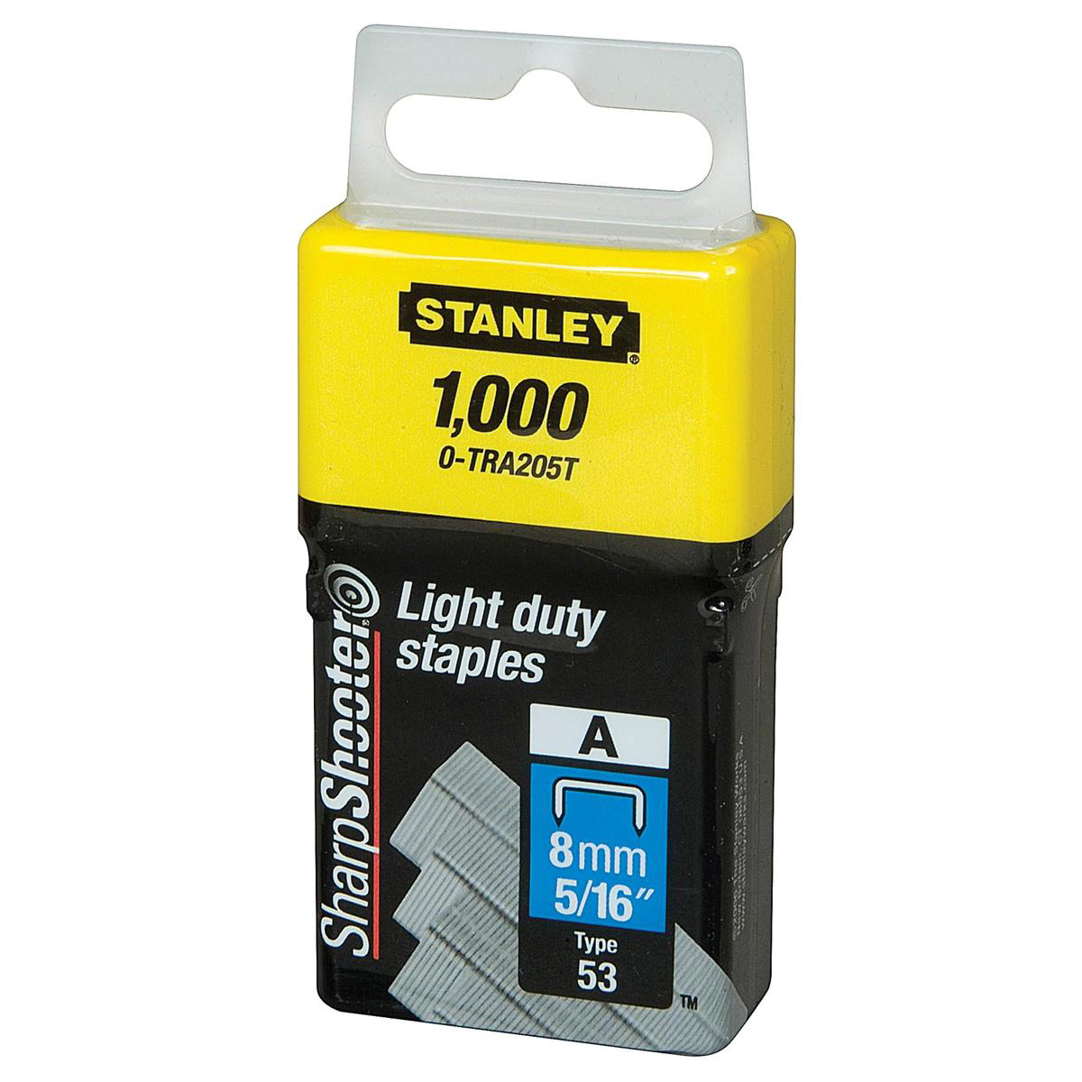 Stanley Light Duty Staples 8mm Ref 0-TRA205T Pack 1000