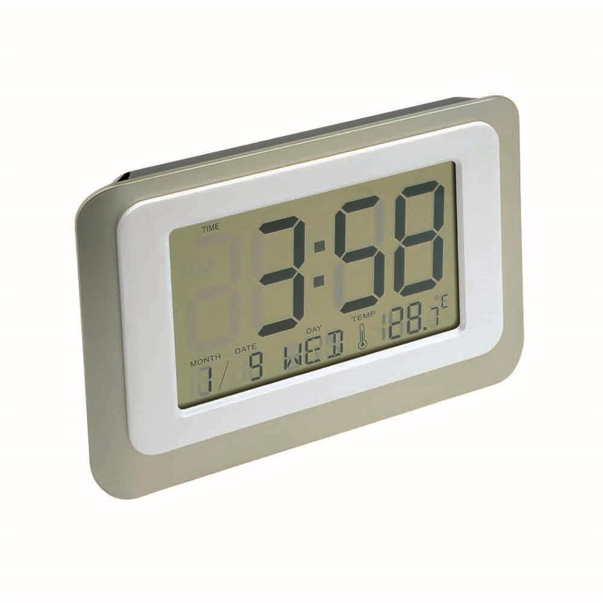 Digital LCD Clock 12/24 Hour switch with Thermometer and Count Down Timer