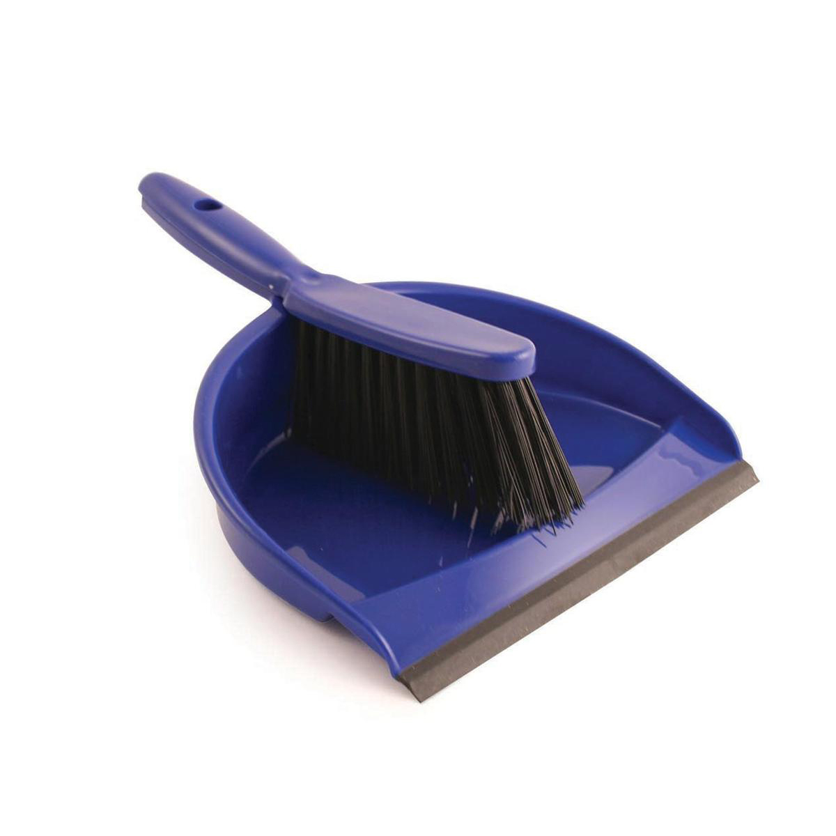 Brushes & Brooms Dustpan and Brush Set Soft Bristles Blue [SET]