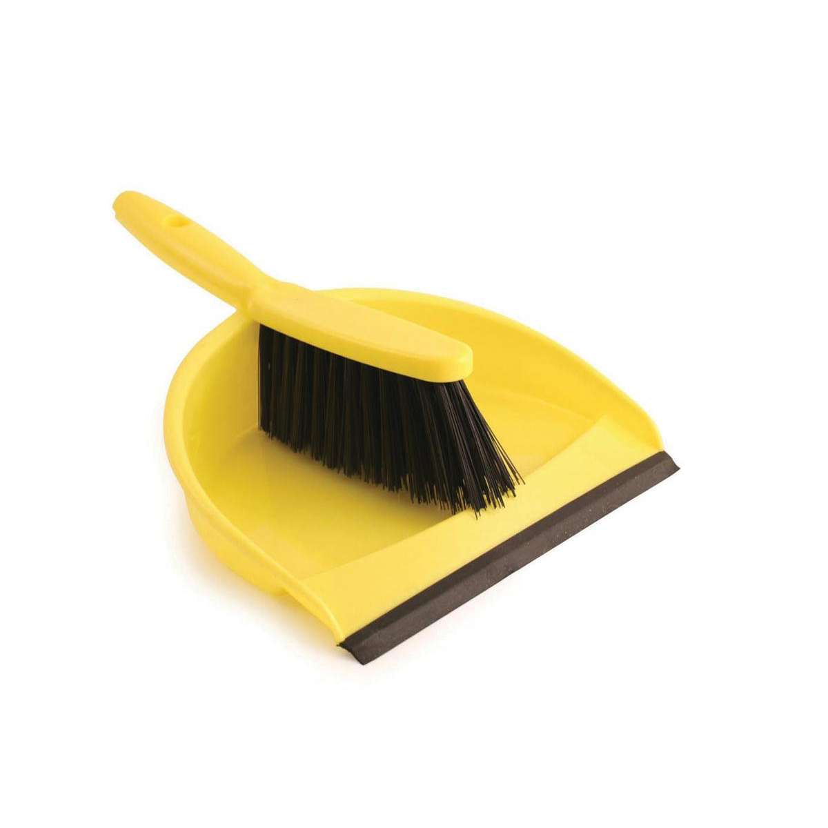 Dustpan and Brush Set Soft Bristles Yellow SET