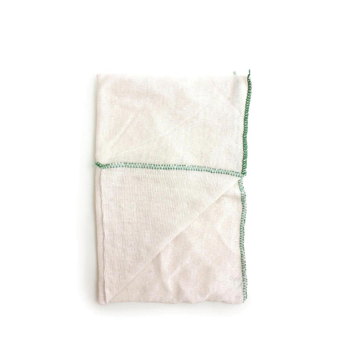 Dish Cloths Stockinette Green [Pack 10]