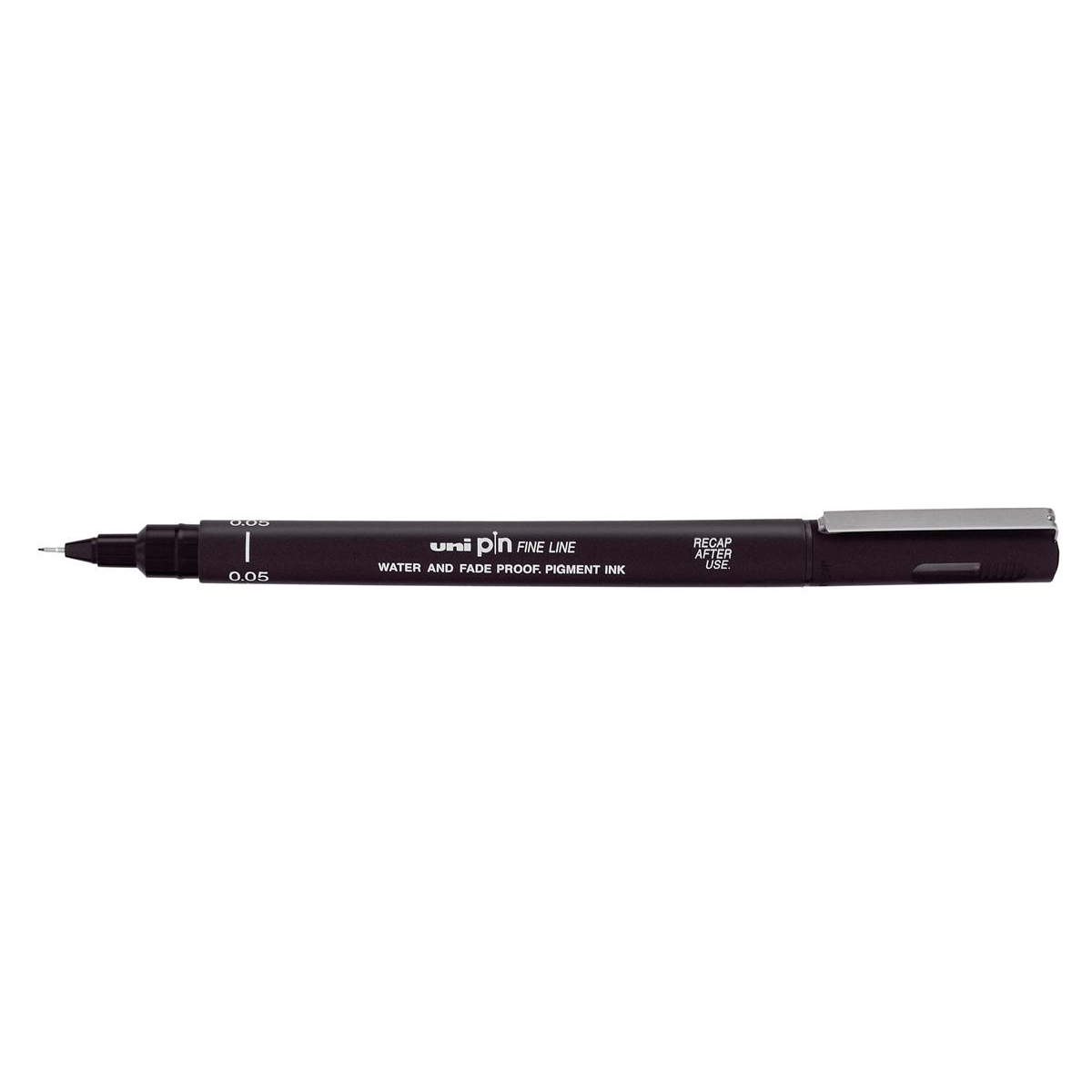 Uni-ball Pin Fineliner Pens Assorted Size Tips Black Ref 153486623 [Pack 5]