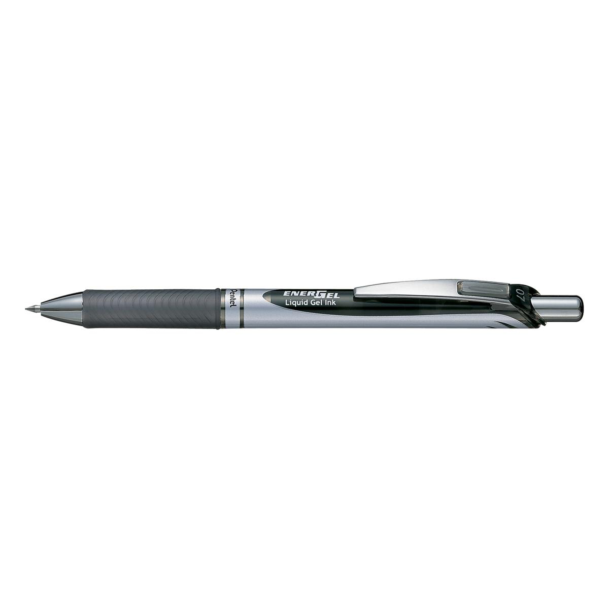 Pentel EnerGel XM Retractable 0.7mm Tip 0.35mm Line Black Ref BL77-A [Pack 12]