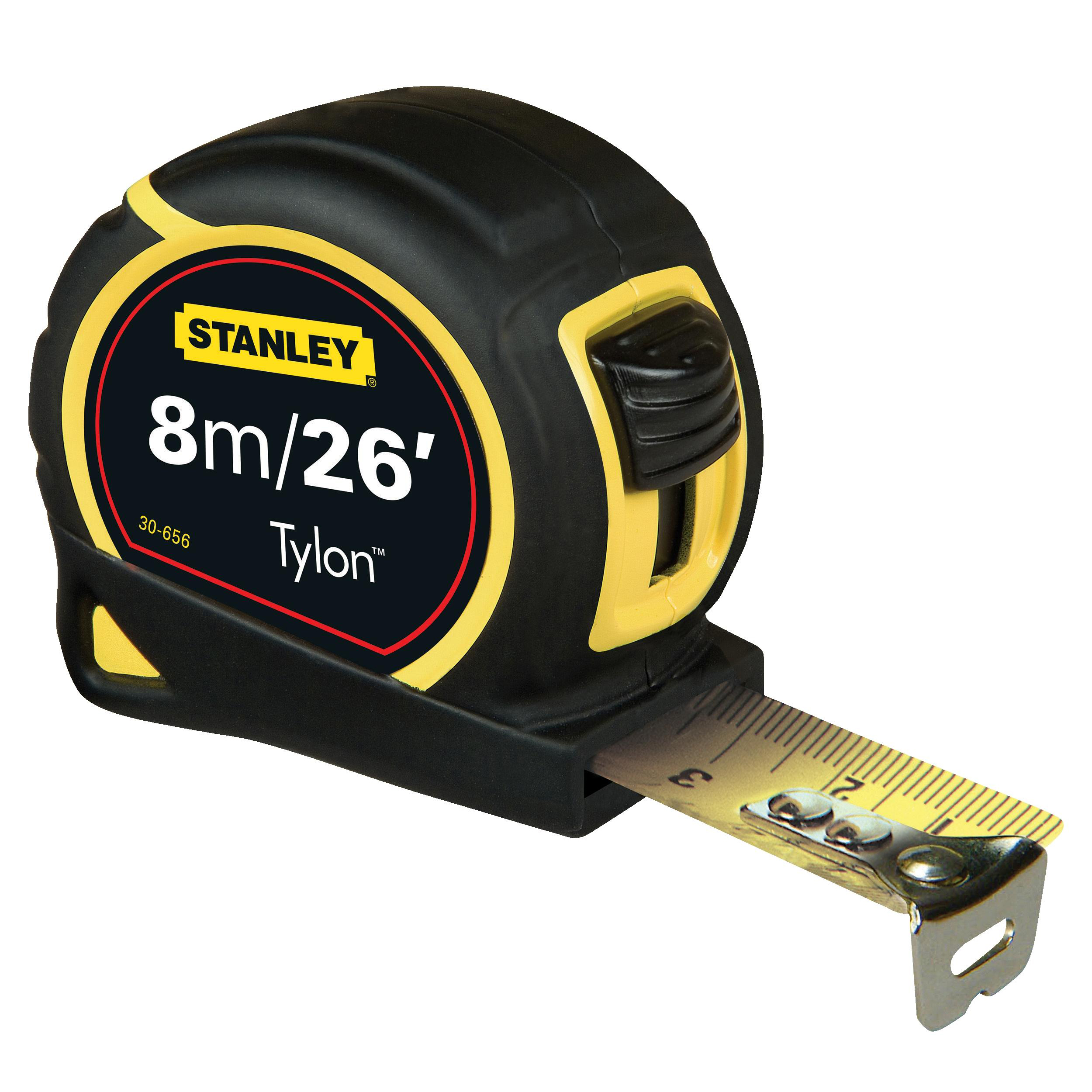 Stanley Tape Measure Pocket 8m/26 Feet Tylon Ref 0-30-656