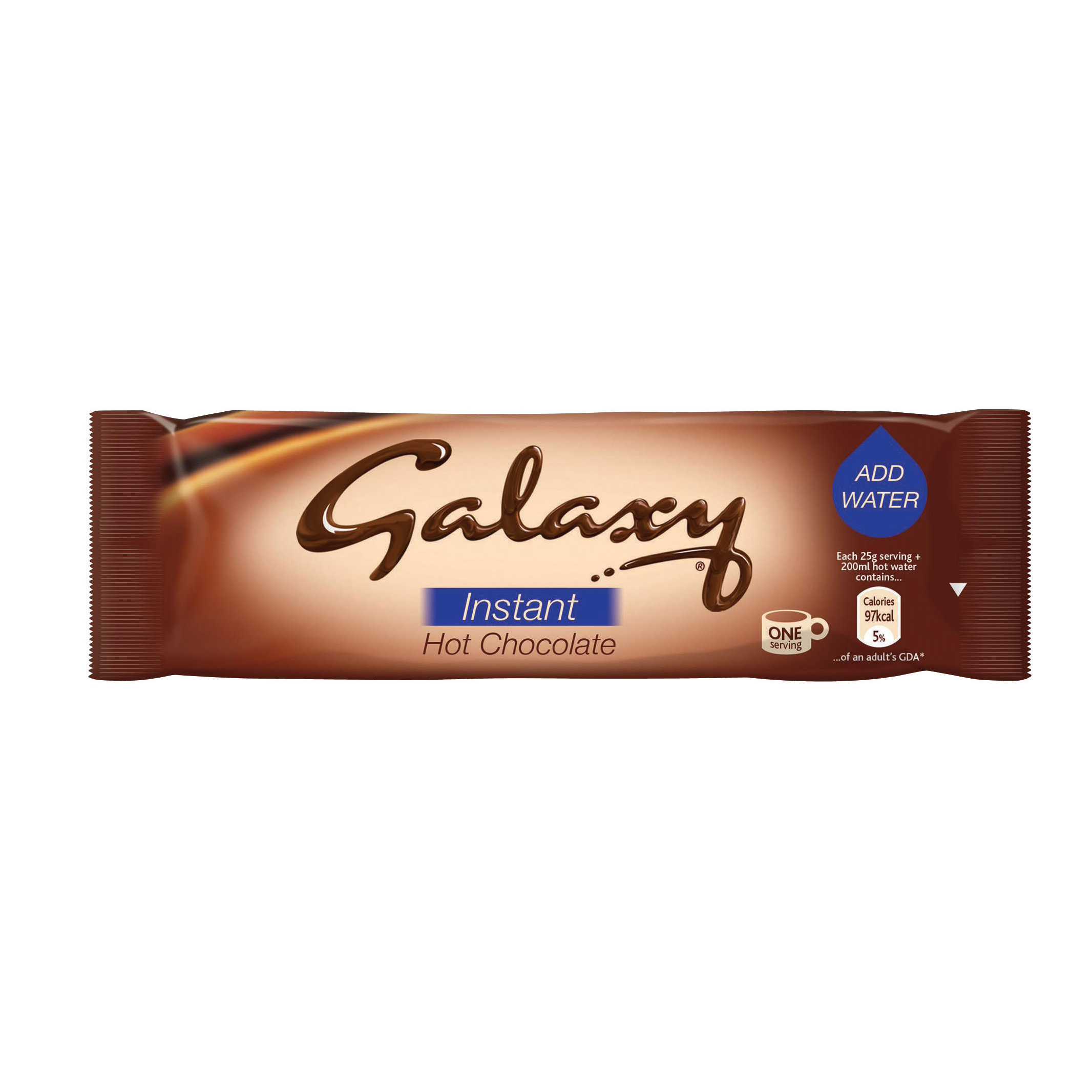 Galaxy Hot Chocolate Powder Sachets 25g Ref A02476 Pack 50