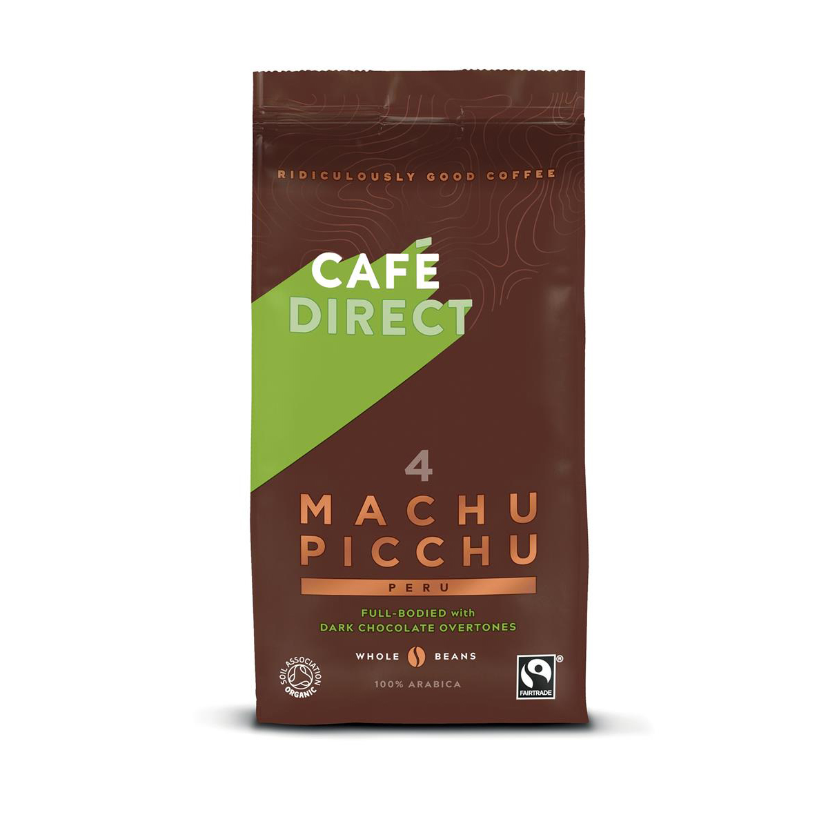 Cafe Direct Machu Picchu Peruvian Fairtrade Whole Beans Coffee 227g Ref FCR1004