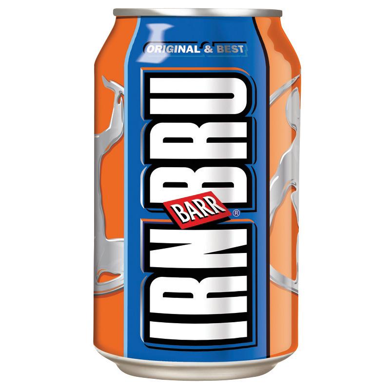 Irn Bru Soft Drink Can 330ml [Pack 24]