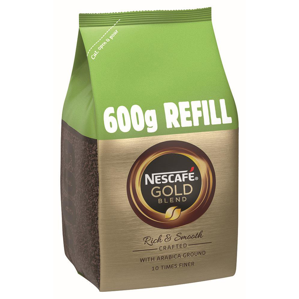 Coffee Nescafe Gold Blend Instant Coffee Refill Pack 600g Ref 12339283