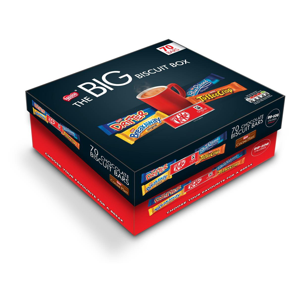 Nestle Big Chocolate Box Assorted 99 - 106 Calories Per Bar Ref 12391006 [Pack 70]