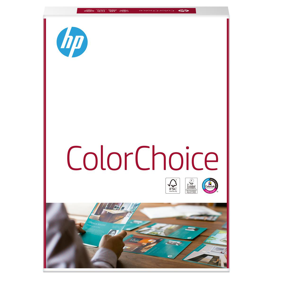 Hewlett Packard HP Color Choice Card Smooth FSC Colorlok 160gsm A4 White Ref 94298 250 Sheets