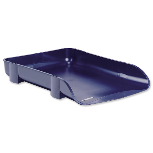 Image for Rexel Agenda2 Letter Tray 55mm Depth W286xD401xH60mm Blue Ref 2101017