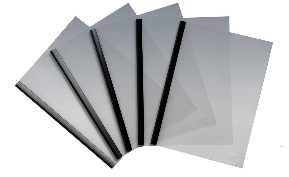 Image for Report Cover Combi Pack A3 Folded to A4 and Spine Bar 60 Sheets 6mm Black [Pack 100]