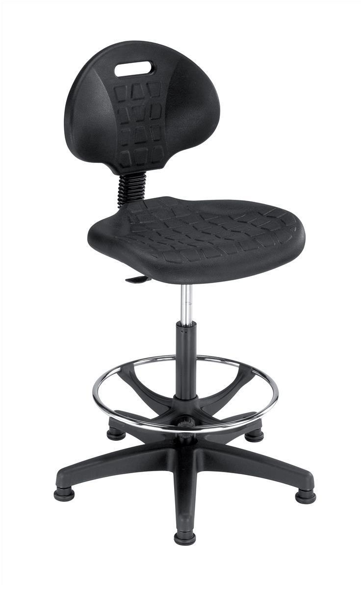 Trexus Lab High Chair Gas Lift Back H330mm Seat W470xD435xH560 810mm Black Ref 564321