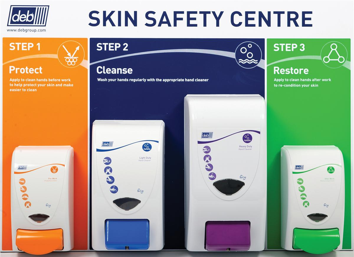 DEB Safety Skin Centre Protect Cleanse Restore Light & Heavy 3 Step Ref N03858