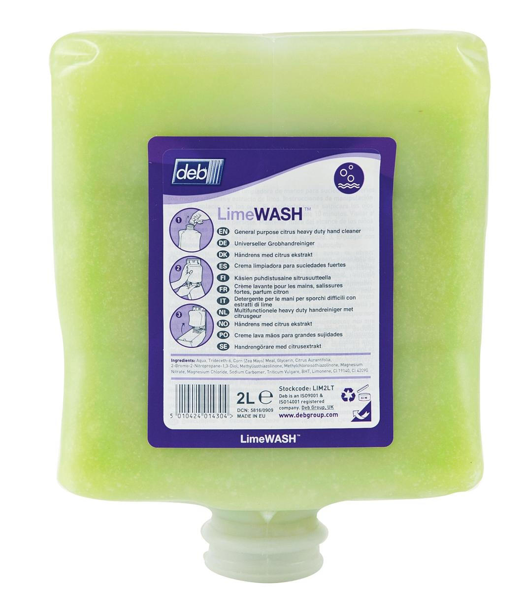 DEB Limewash Hand Soap Refill Cartridge 2 Litre Ref N03831