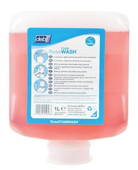 DEB Rose Foaming Hand Soap Refill Cartridge 1 Litre Ref N03835