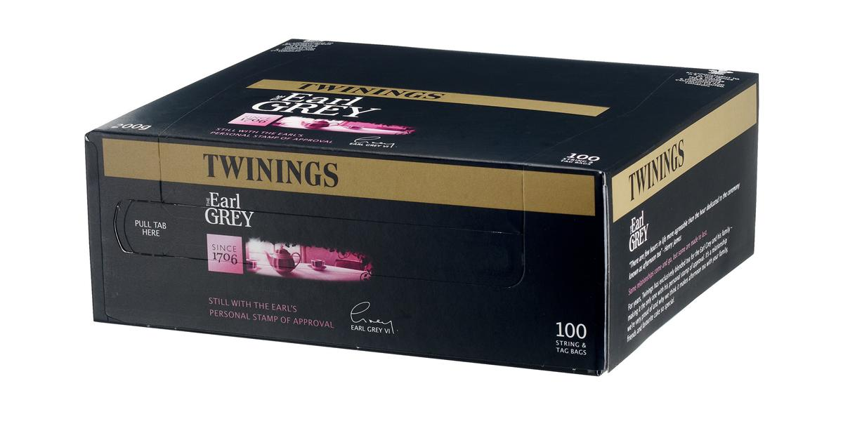 Twinings Tea Bags Earl Grey Fine High Quality Aromatic Ref 0403117 [Pack 100]