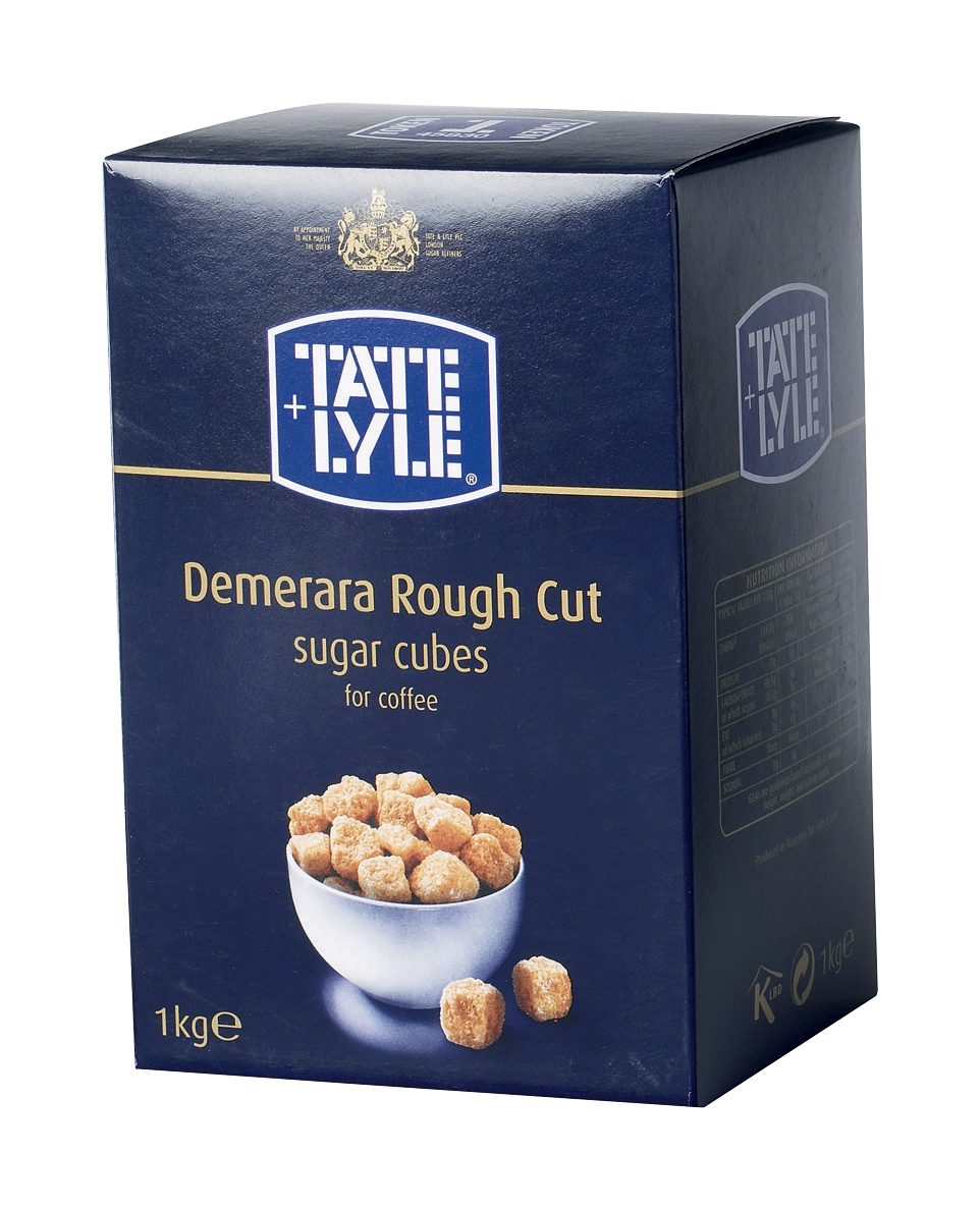 Tate and Lyle Demerara Sugar Cubes Rough-cut 1Kg Ref A03903