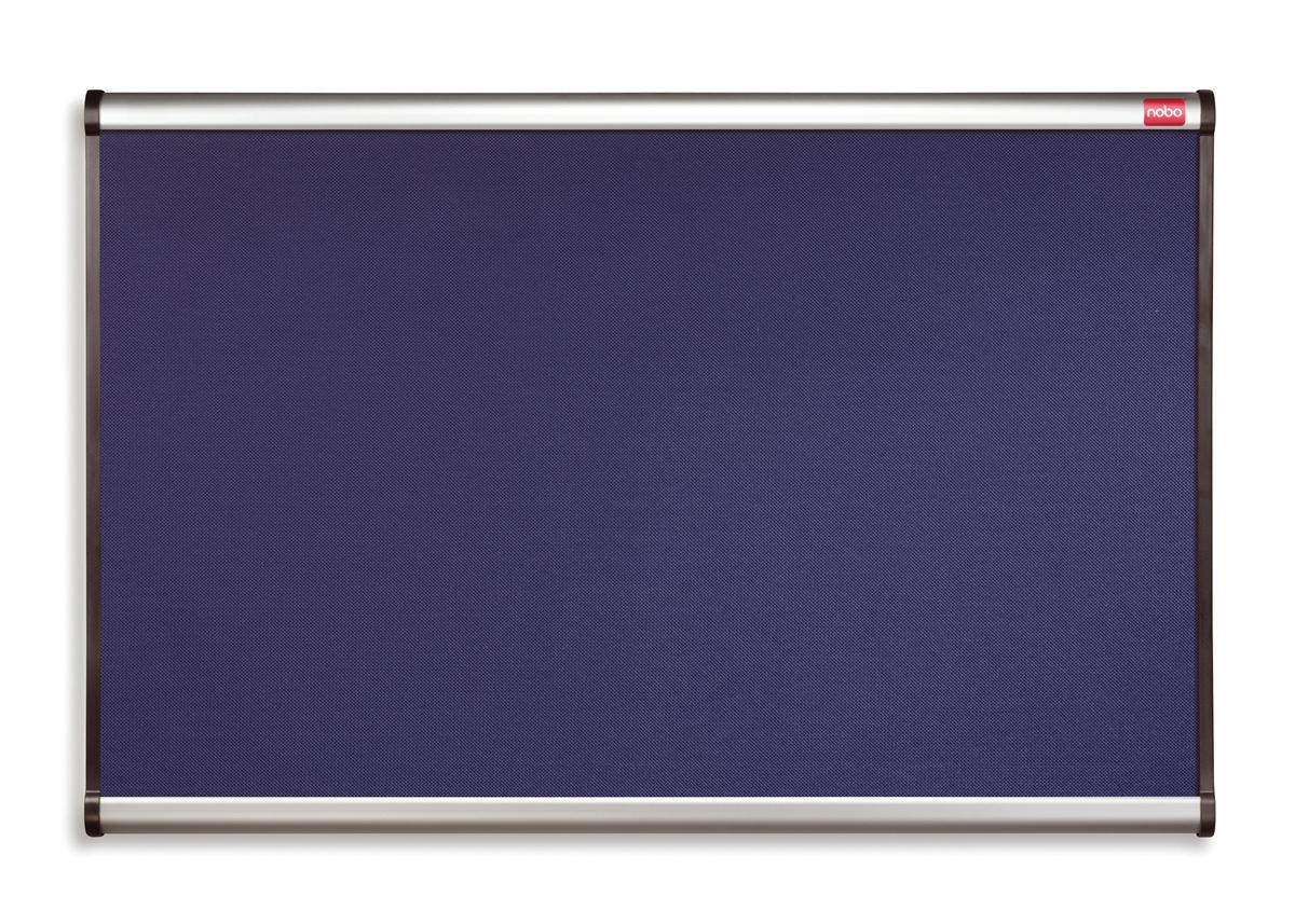 Nobo Prestige Noticeboard Diamond Mesh with Aluminium Finish W900xH600mm Blue Ref QBR443A