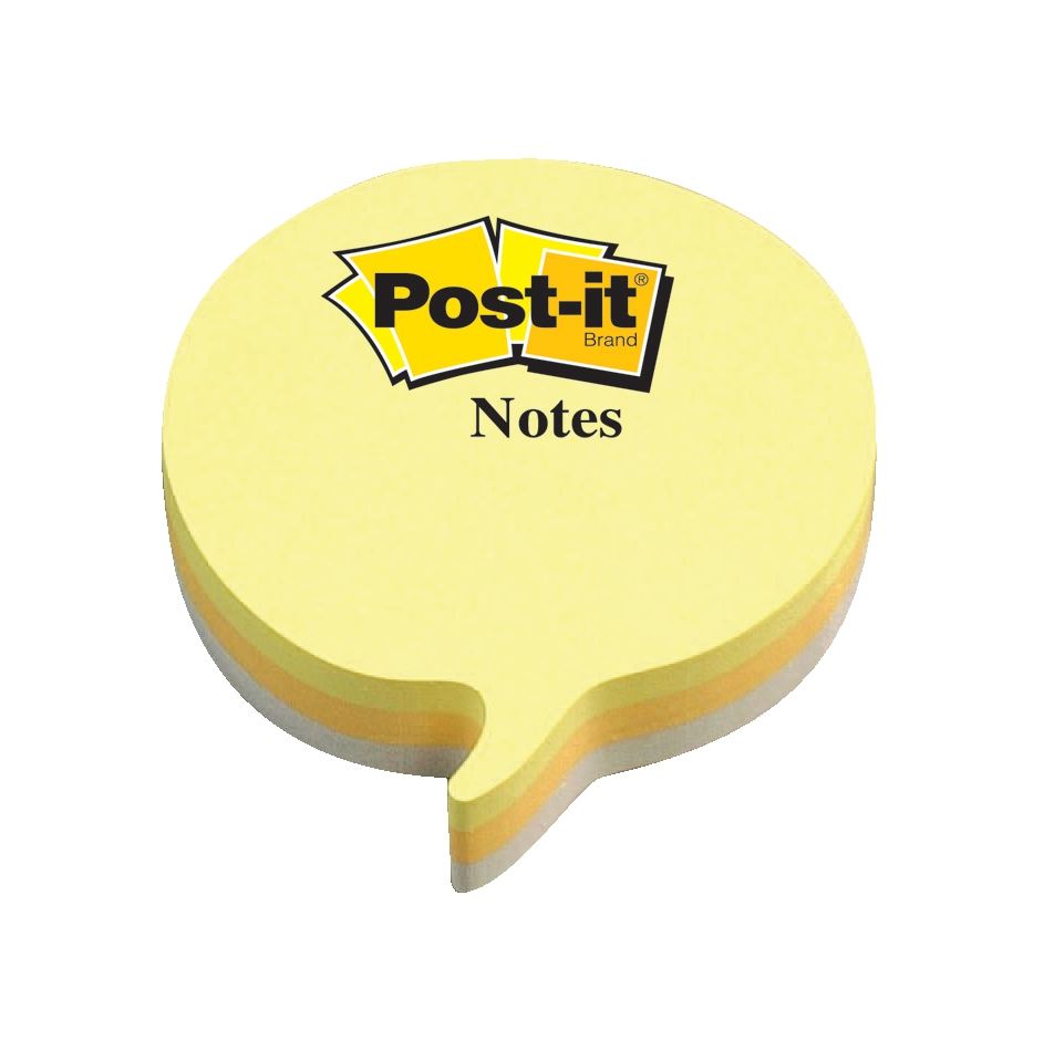 Image for Post-it Speech Bubble Notes Pad of 225 Sheets Yellow and Grey Ref 2007SP
