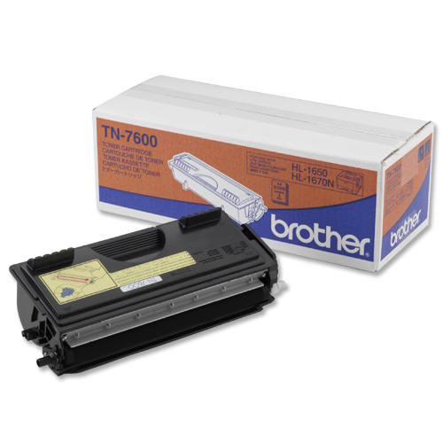Brother Laser Toner Cartridge High Yield Page Life 6500pp Black Ref TN7600