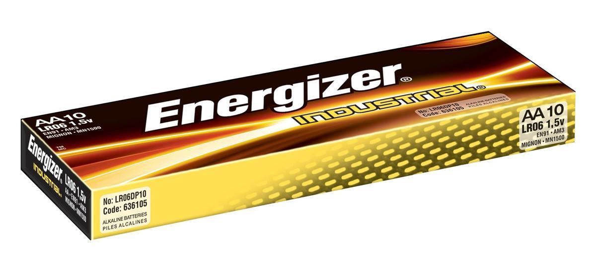 Image for Energizer Industrial Battery Long Life LR6 1.5V AA Ref 636105 [Pack 10]