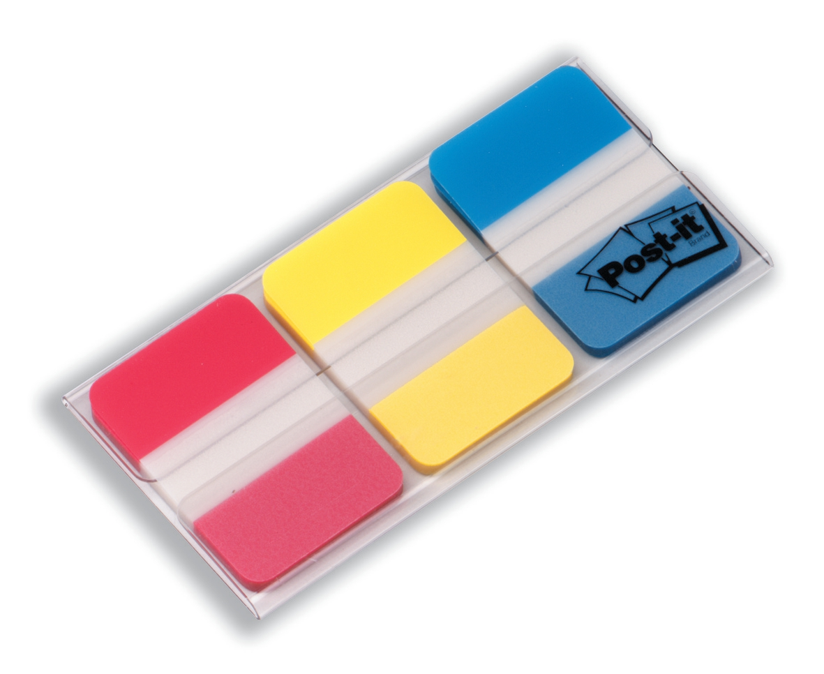 Image for Post-it Index Strong 25mm Assorted Red Yellow and Blue Ref 686-RYB [Pack 66]