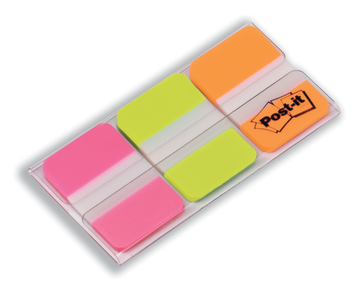 Image for Post-it Index Strong 25mm Assorted Pink Green and Orange Ref 686-PGO [Pack 66]