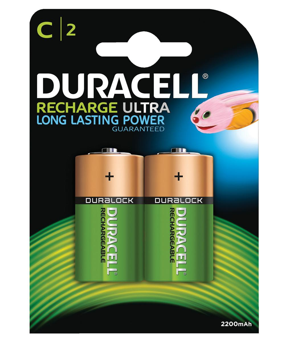 Image for Duracell Battery Rechargeable Accu NiMH 2200mAh C Ref 81364720 [Pack 2]