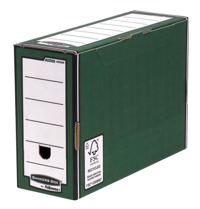 Image for Bankers Box by Fellowes Premium Transfer File Green and White Ref 00060-FFSP1 [Pack 10]