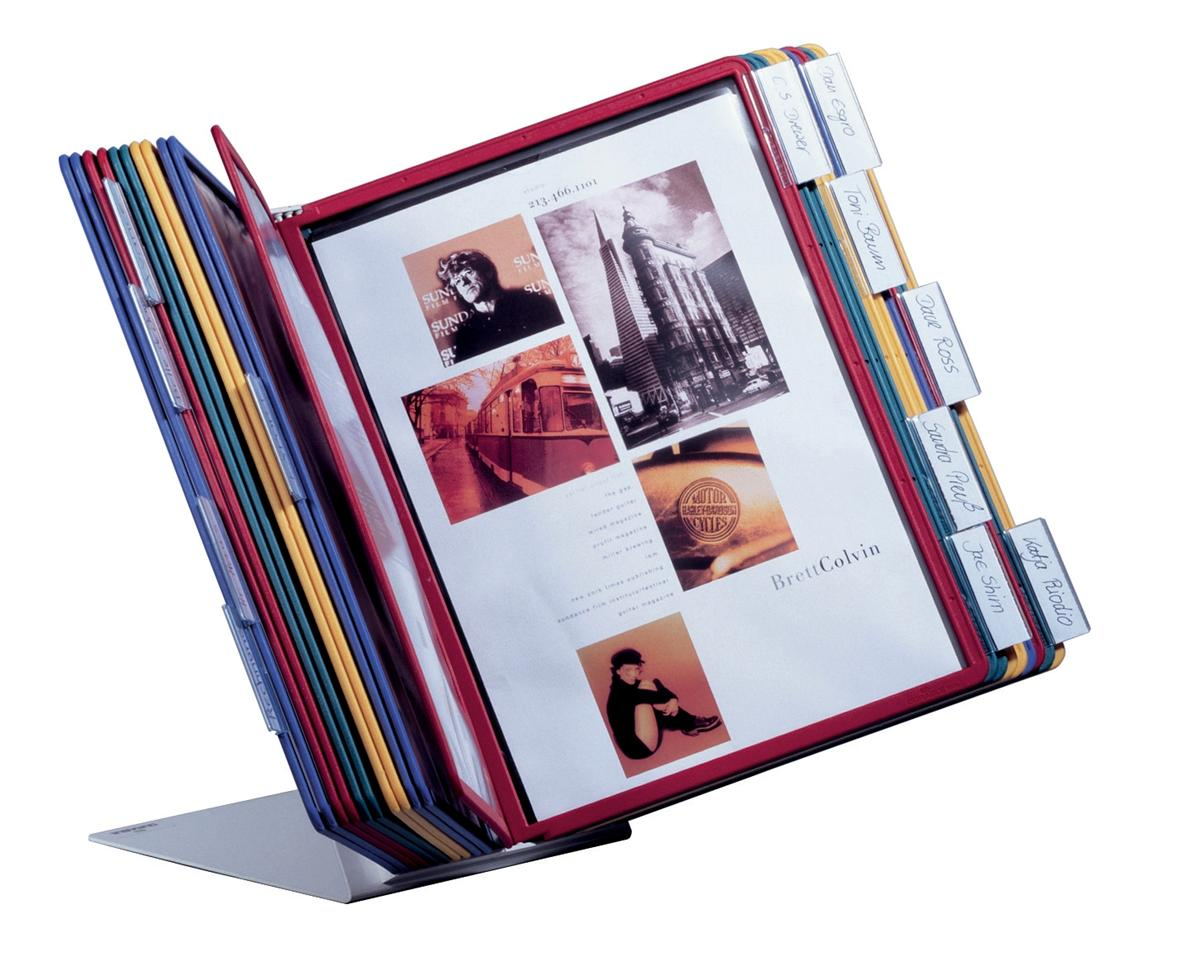 Image for Durable Desk Display Unit Complete with 20 Tabs and 20 Panels A4 Assorted Ref 5699/00