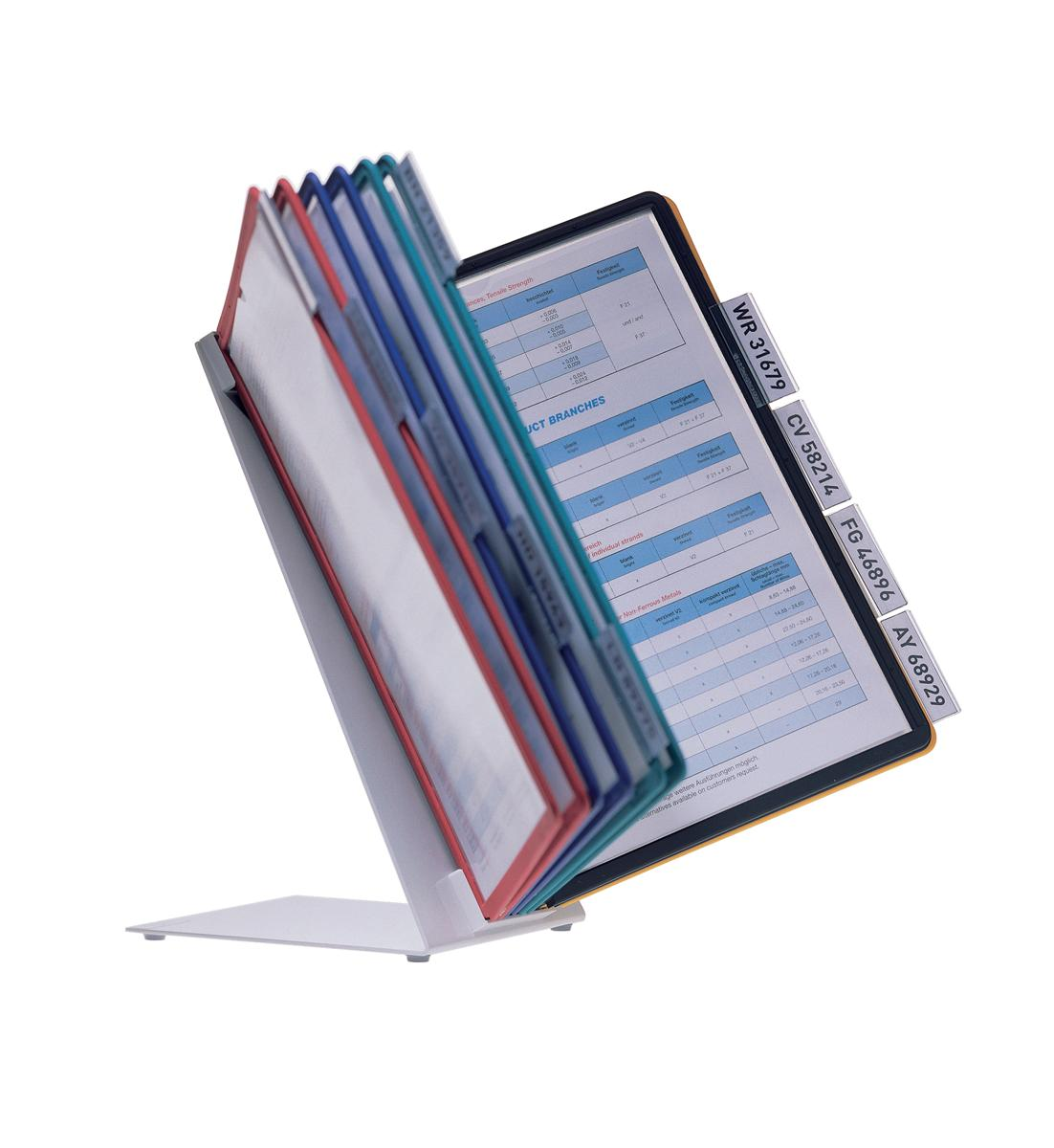 Image for Durable Desk Display Unit Complete with 10 Tabs and 10 Panels A4 Assorted Ref 5570/00