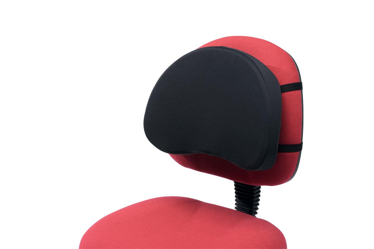 Image for Back Support with Removable Cover Adjustable Strap Black