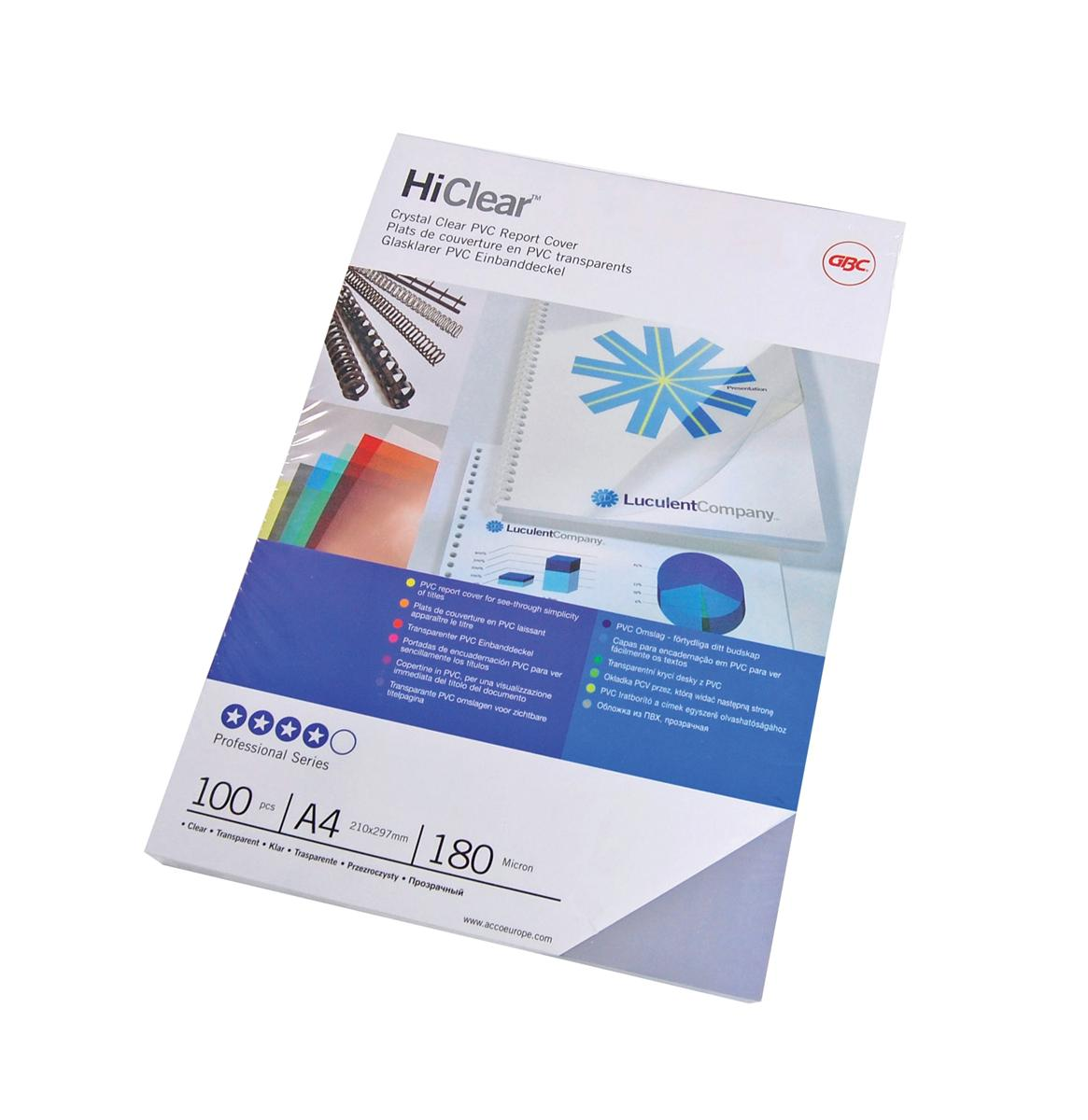 GBC Report Covers 250 micron Superclear A4 Clear Ref 41606E [Pack 25x2]