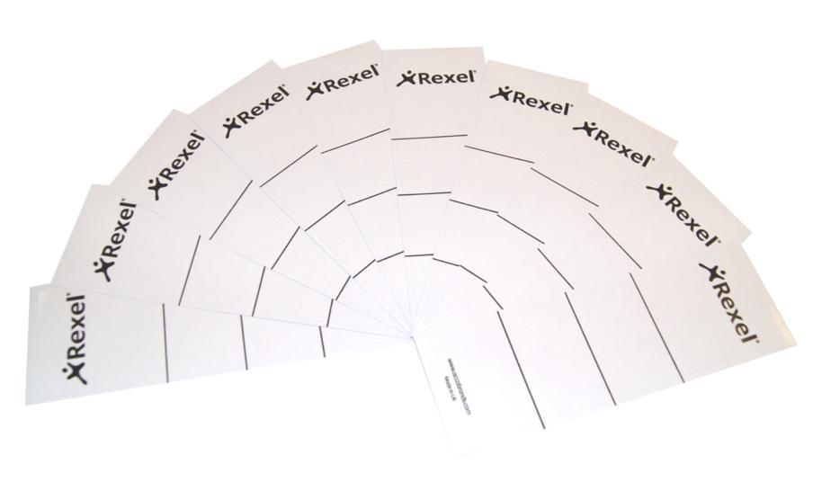 Image for Rexel Replacement Spine Labels 191x60mm White Ref 29300EAST [Pack 100]