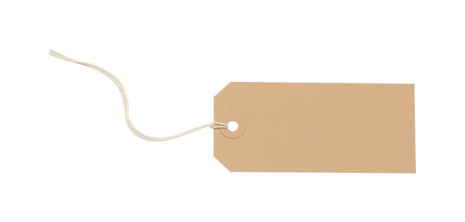 Image for Tag Labels Strung 108x54mm Buff [Pack 1000]