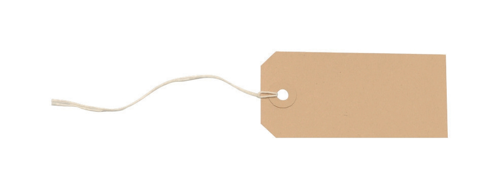 Tag Labels Strung 96x48mm Buff [Pack 1000]