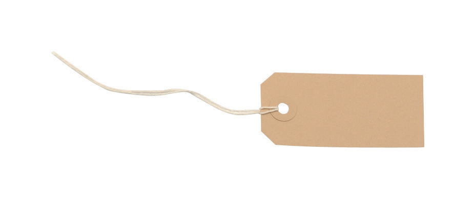 Tag Labels Strung 82x41mm Buff [Pack 1000]