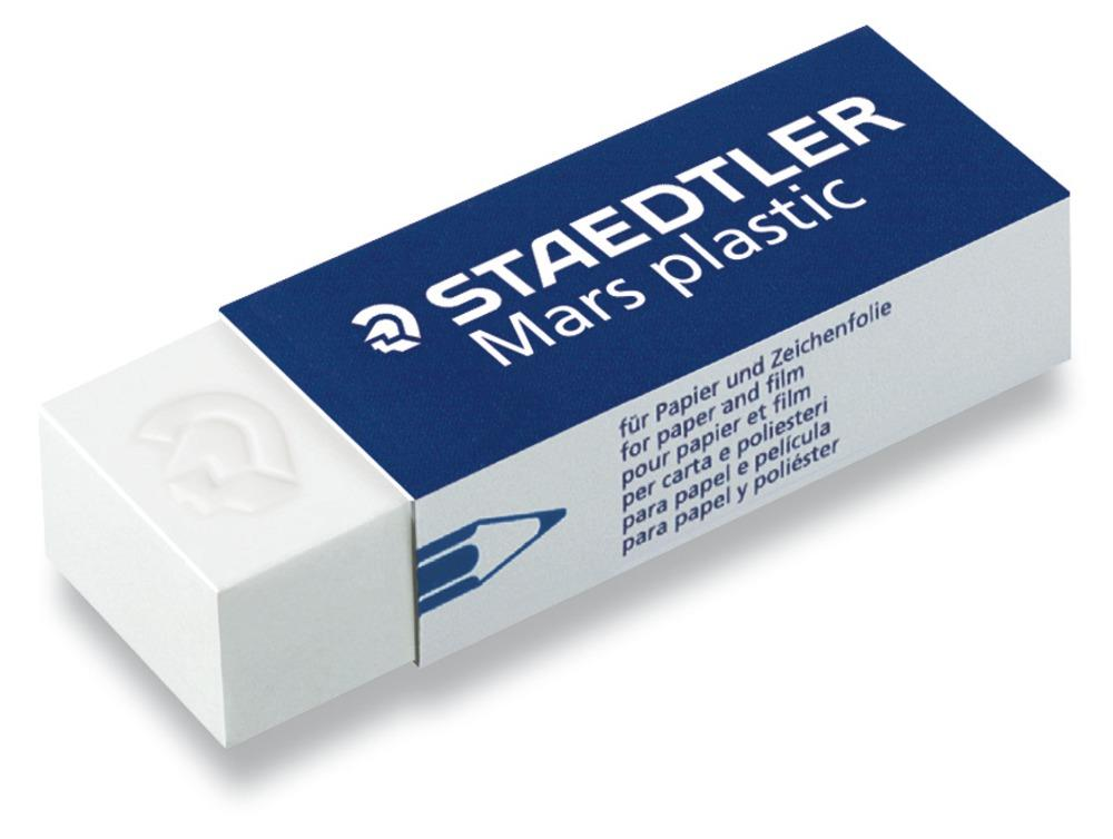 Staedtler Mars Plastic Eraser Premium Quality Self-cleaning 65x23x13mm Ref 52650BK2DA [Pack 2]