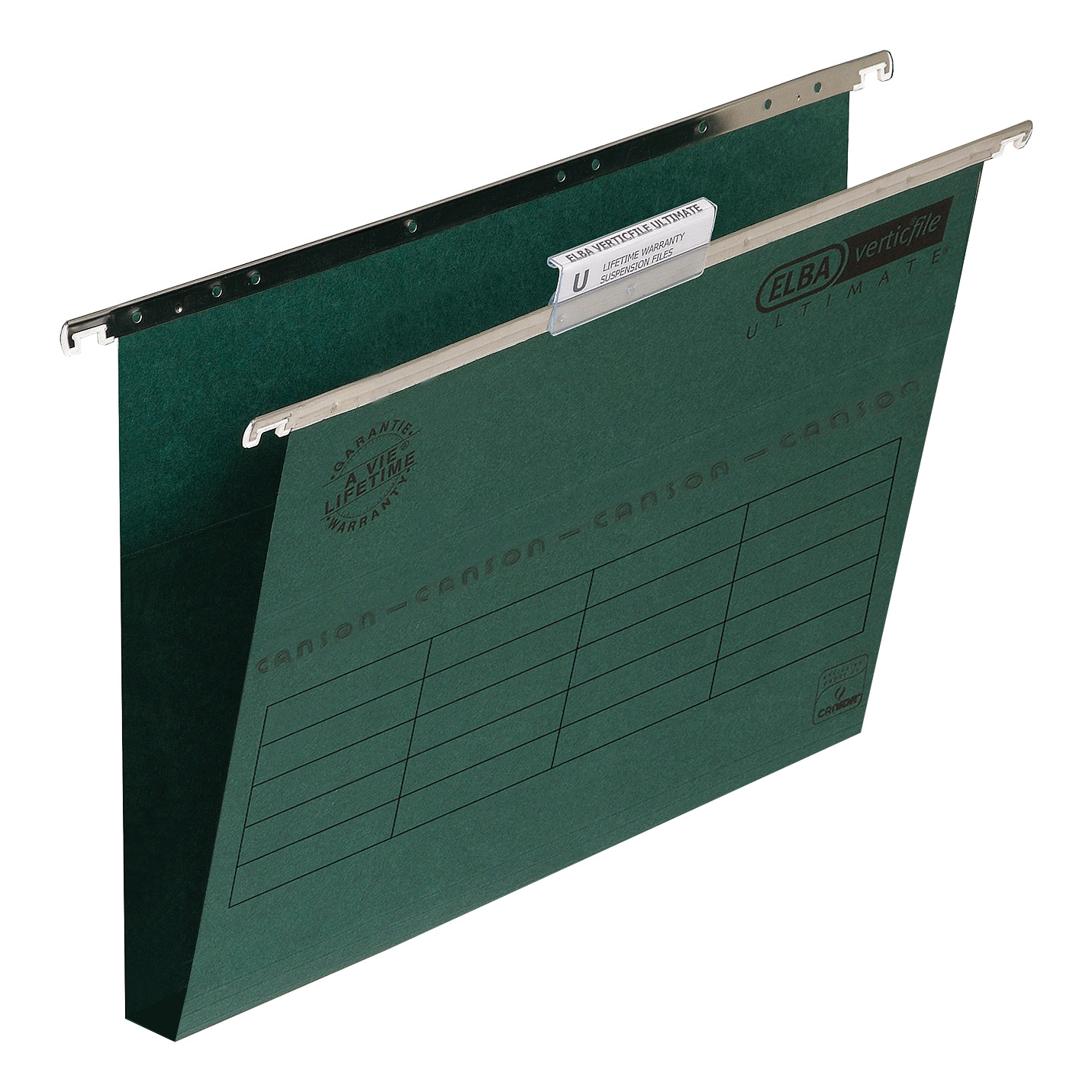 Elba Verticfile Ultimate Suspension File 30mm Wide-base Manilla 240gsm Green Ref 100331114 [Pack 50]