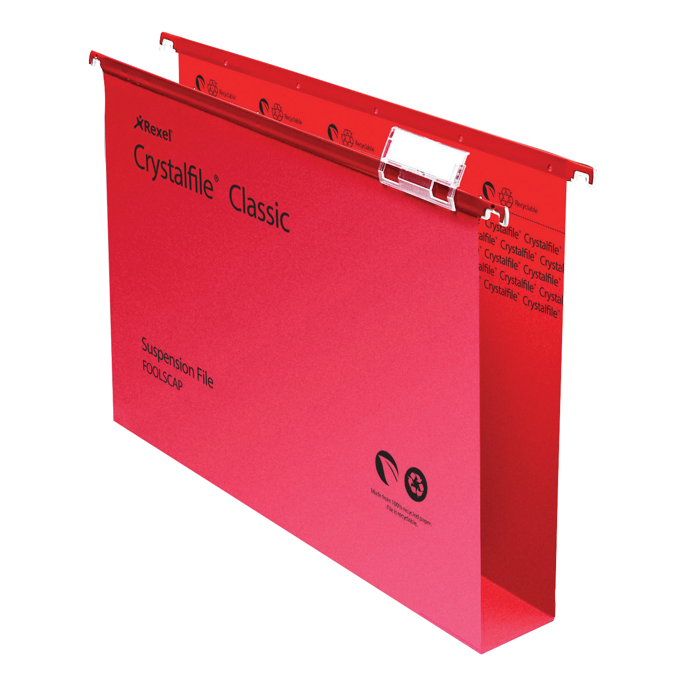 Suspension File Rexel Crystalfile Classic Suspension File Manilla 50mm Wide-base 230gsm Foolscap Red Ref 71752 Pack 50