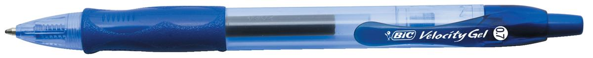 Image for Bic Velocity Gel Rollerball Pen Comfort Grip Retractable Blue Ref 820566 [Pack 12] [FREE Matic Grip x4]