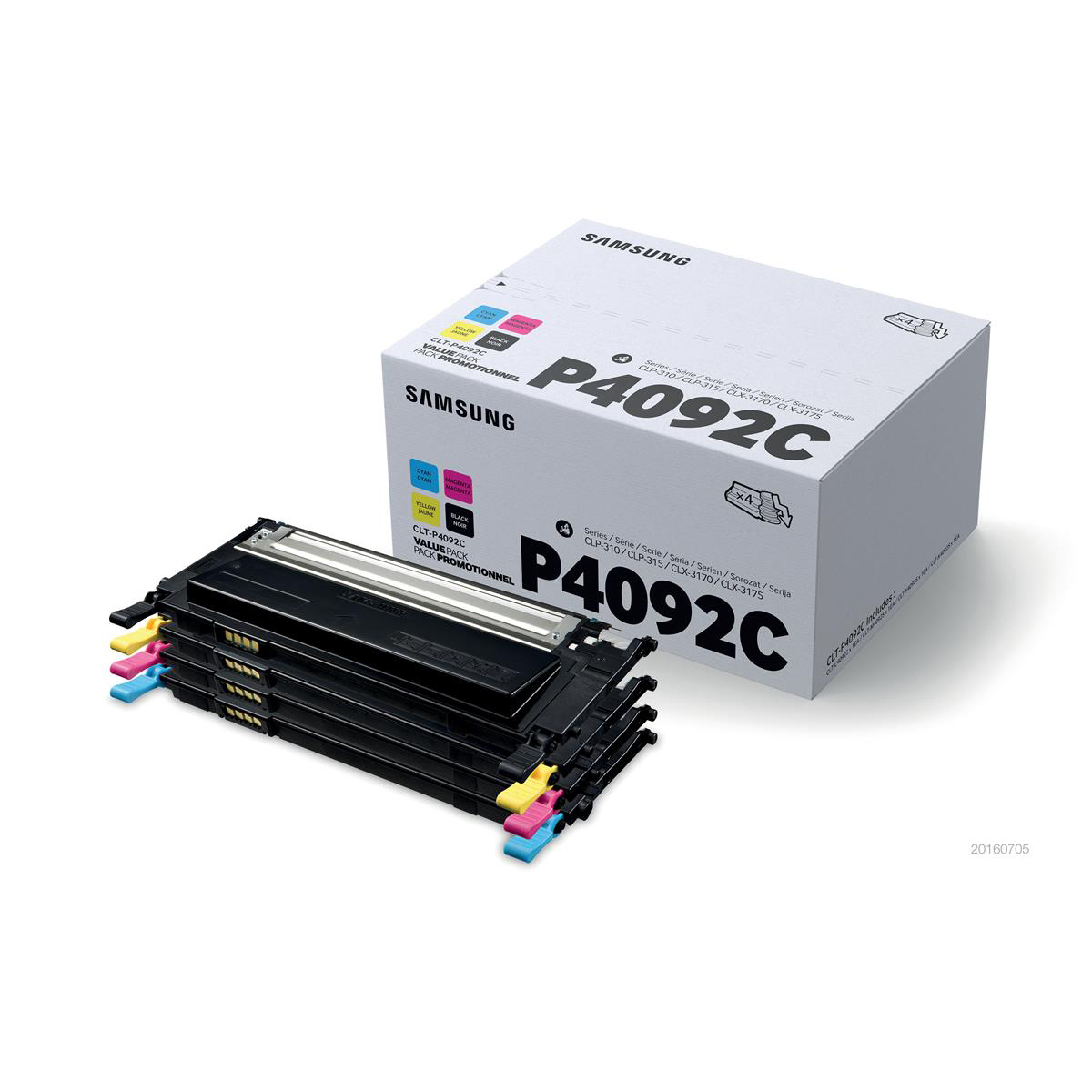 Samsung Laser Toner Value Pack Page Life 4500pp Black/Cyan/Magenta/Yellow Ref CLT-P4092C/ELS Pack 4