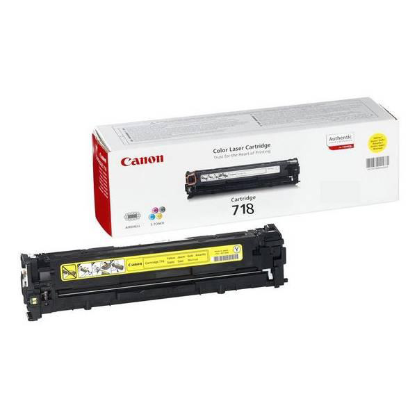 Canon 718Y Laser Toner Cartridge Page Life 2900pp Yellow Ref 2659B002