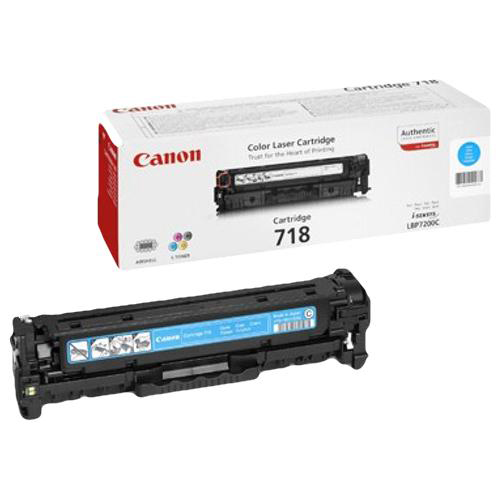 Canon CRG-718C Laser Toner Cartridge Page Life 2900pp Cyan Ref 2661B002